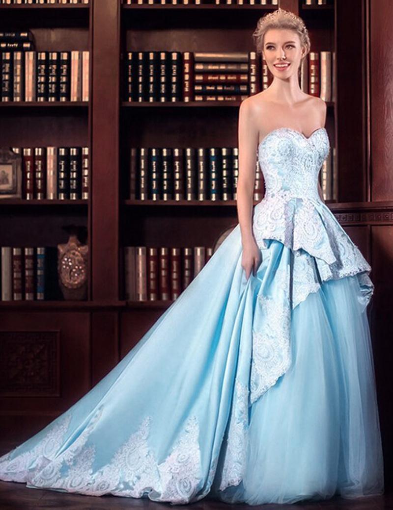 Robe de mariee bleu clair