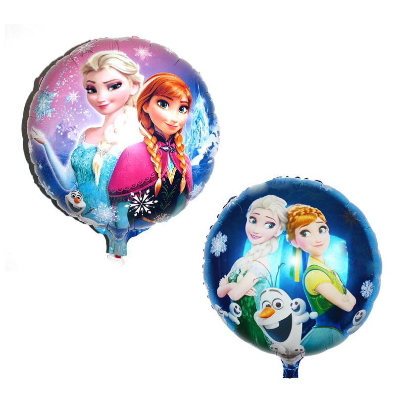 Arpa Cartoon Elsa Metallic Birthday Decoration Princess Queen Anna Round Balloon for Kids Party Supplies Foil Ballon,45*45cm(China (Mainland))