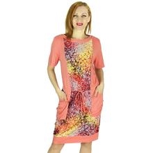 BFDADI Новый 2016 летом печать большие карманы платья женские свободного покроя с коротким рукавом длиной до колен широкие платья Большой размер 5xl 8817(China (Mainland))