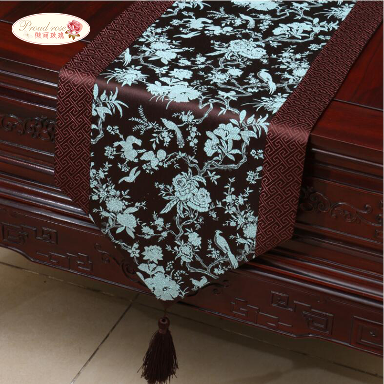 1 Piece Chinese Style Classical Silks and Satins Table Runner/ Simple China Wind Tea Table Runner/ Table Runner Free Shipping(China (Mainland))