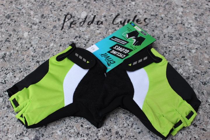free shipping 100% Original CRIVIT half finger/short bicycle racing gloves--Black/Green 8.5#(China (Mainland))