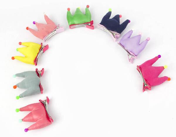 Dog cat cute candy color crown Hairpin doggy Hair Accessory pet dog cat grooming puppy Hair Clip pets apparel pet products 50pcs(China (Mainland))