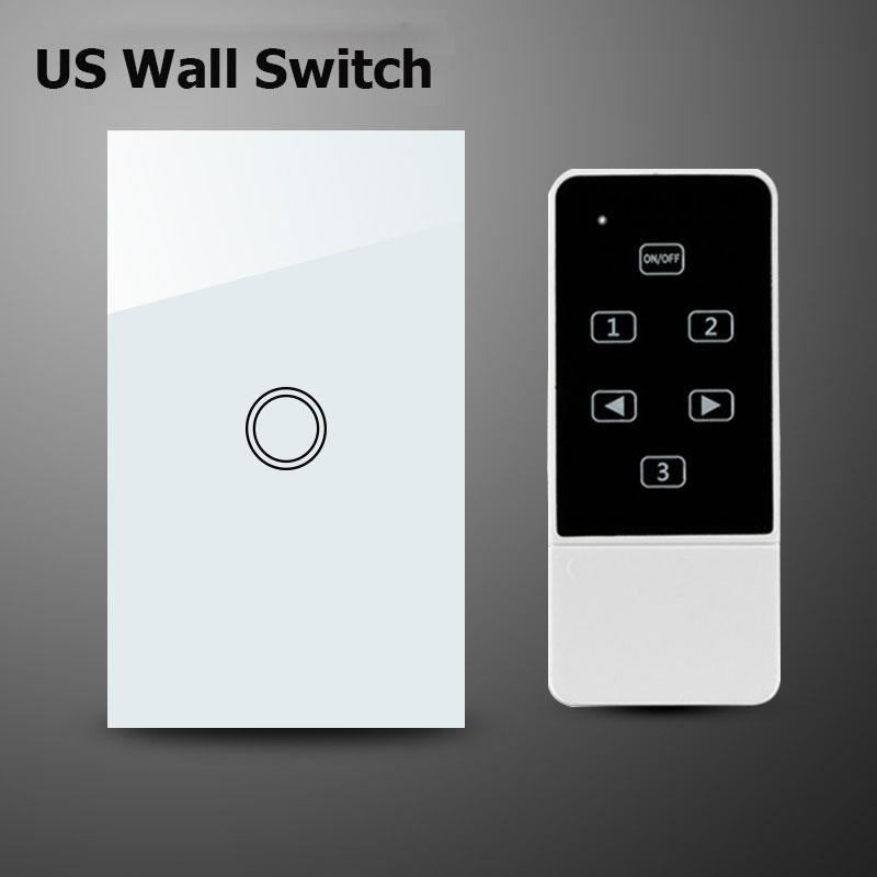Us Standard 1gang Wireless Remote Control Wifi Wall Light