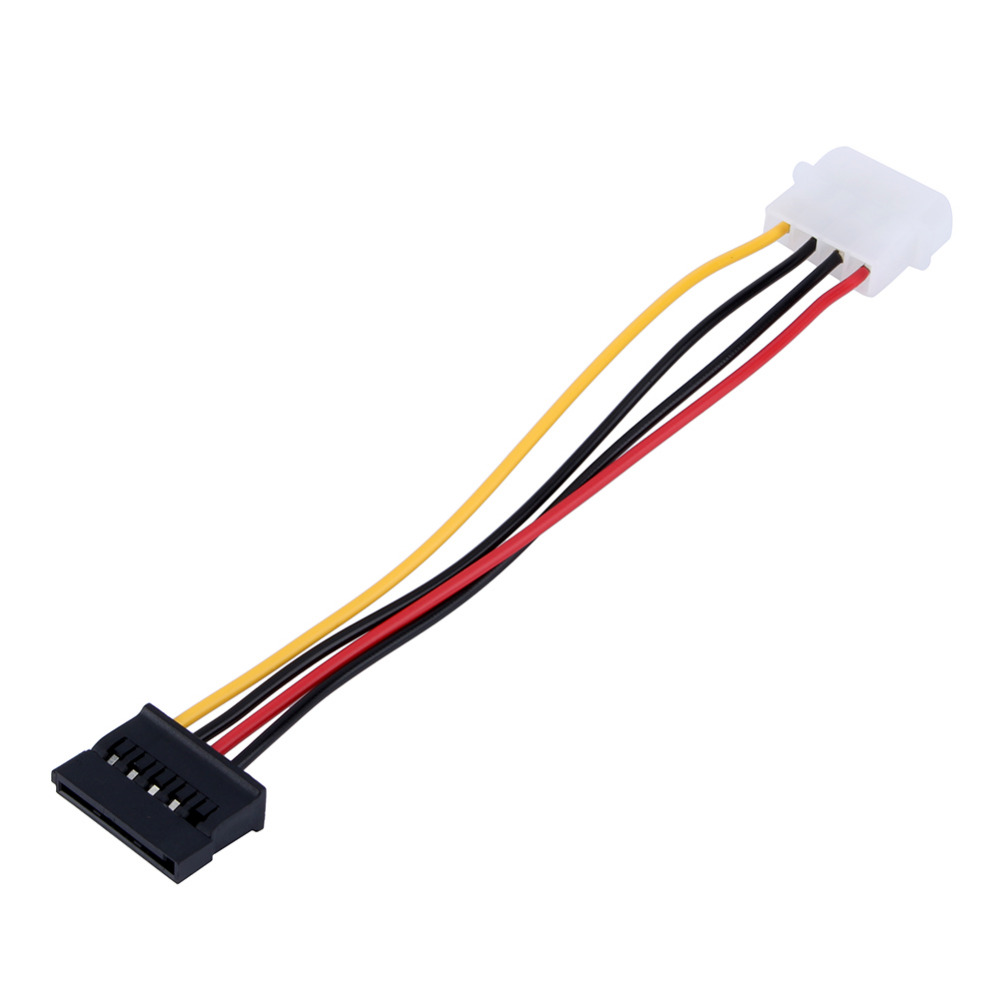 1pcs Serial ATA SATA 4 Pin IDE Molex to 15 Pin HDD Power Adapter Cable Hard Drive Adapter(China (Mainland))