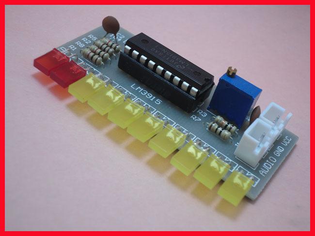 Free Shipping! 10pc LM3915 fun 10-segment audio level indicator kit / electronic production parts(China (Mainland))