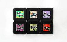 wholesale 9cm*9cm*3mm 6pcs Chinese Classical Style Beautiful Rubber Square Chinese Cup Mat(PANDA)(China (Mainland))