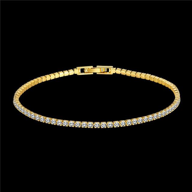 Мода настоящее розовое золото/18 К позолоченный браслет с ААА класса кубического ...