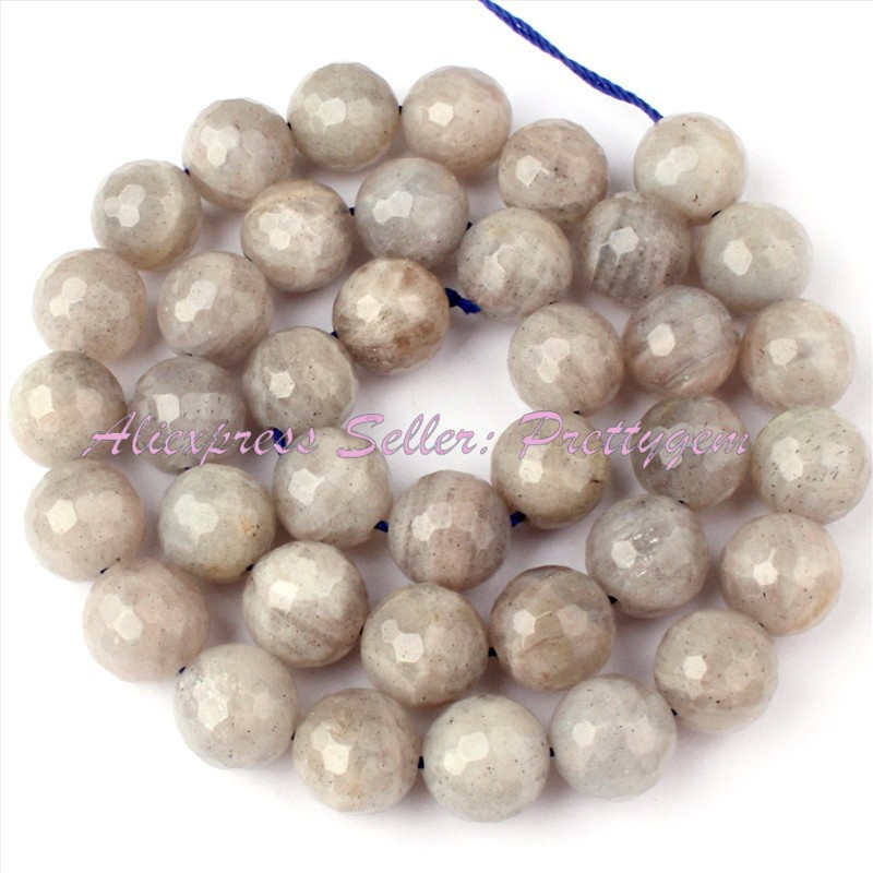 Free Shipping DIY Necklace Bracelat Jewelry Making 10mm Natural Faceted Round Gray Labradorite Spacer Loose Beads Strand15<br><br>Aliexpress