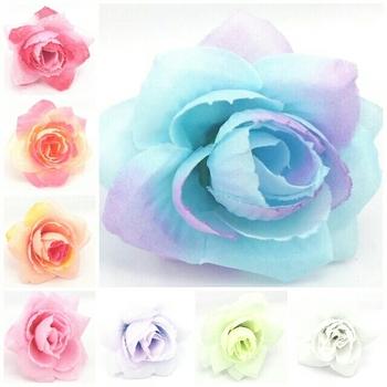 4cm Rose Artificial Silk Flower Heads Wedding party Hair dressing Diy flower heads free shipping