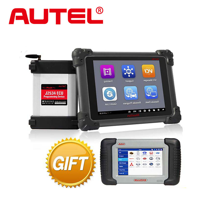 Autel MS908P MaxiSYS Pro Diagnostic System with J2534 ECU Coding Programming Box/VCI Model+ WIFI Free Onlie Update+Gift DS708(China (Mainland))
