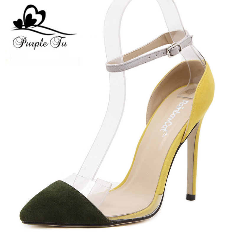 Latest 2016 Spring Shoes Womens Sexy Stilettos High Heels Pointed Toe Party Prom Pumps Court ...