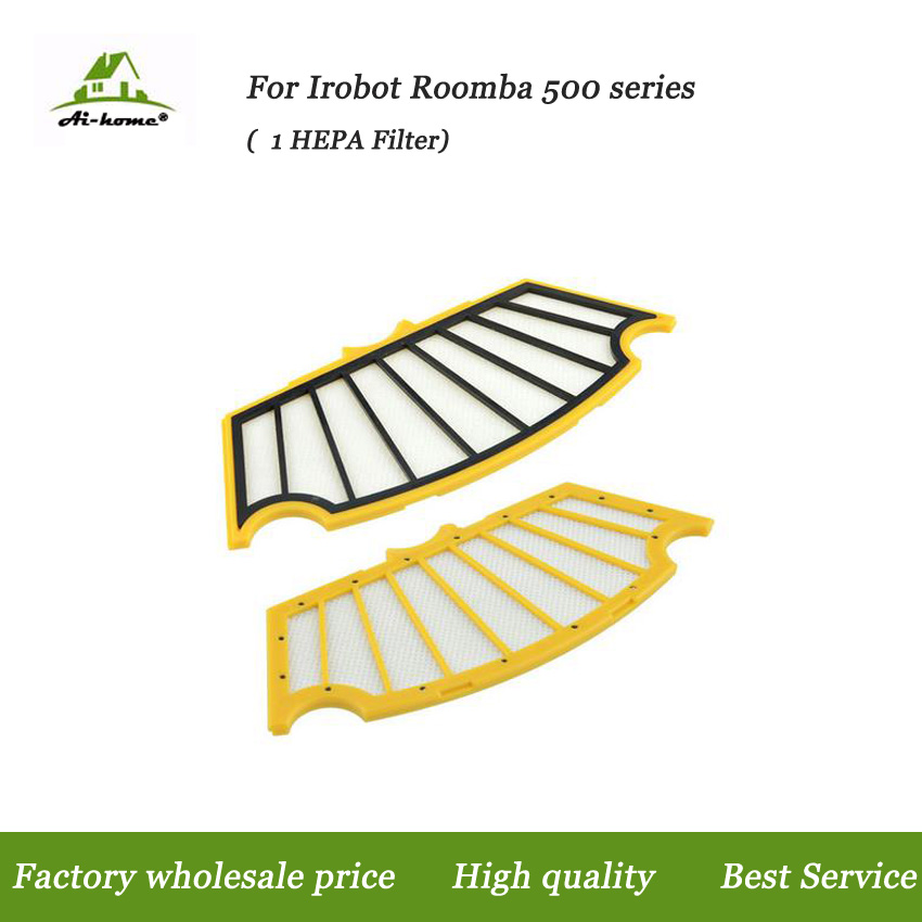 Aihome High Quality Hepa Filter Replacement Parts for iRobot Roomba 500 Series 527 528 530 532 535 540 555 560 562 Vacuum Robots(China (Mainland))