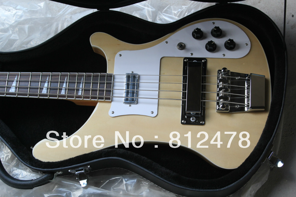 New Arrival 2014 bass wood mahogany Good quality electric bass in stock with case(China (Mainland))