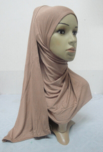 H836 plain big size Amira style pull on jersey scarf hijab, fast delivery(China (Mainland))
