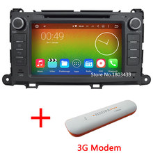 """Quad core WIFI FM BT 2Din 8"""" Android 5.1.1 1024*600 Car DVD Player Radio Stereo PC Audio Screen GPS For Toyota Sienna 2009-2013(China (Mainland))"""
