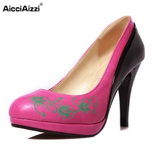 Buy Size 33-45 Fashion Womens Shoes Ladies Stiletto High Heels Office Dress Work Court Platform Women Pumps Zapatos Mujer for $21.86 in AliExpress store