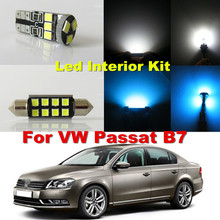 13x Pure White Canbus W5W 36MM C5W Car Dome Light LED Interior Lighting kit Volkswagen VW Passat B7 2012 2013 2014 2015 - WLJH AutoLed Store store