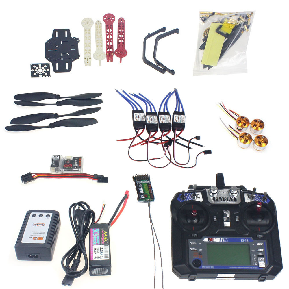 Full Set RC Drone Quadrocopter 4-axis Aircraft Kit F330 MultiCopter Frame QQ Super Flight Control FS-i6 Transmitter F02471-H
