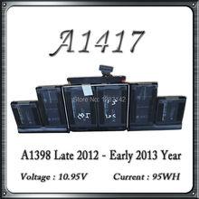 Original Qualität Für Macbook Pro Retina 15 ''A1398 A1417 Akku 2012 Jahr Ersatz(China (Mainland))