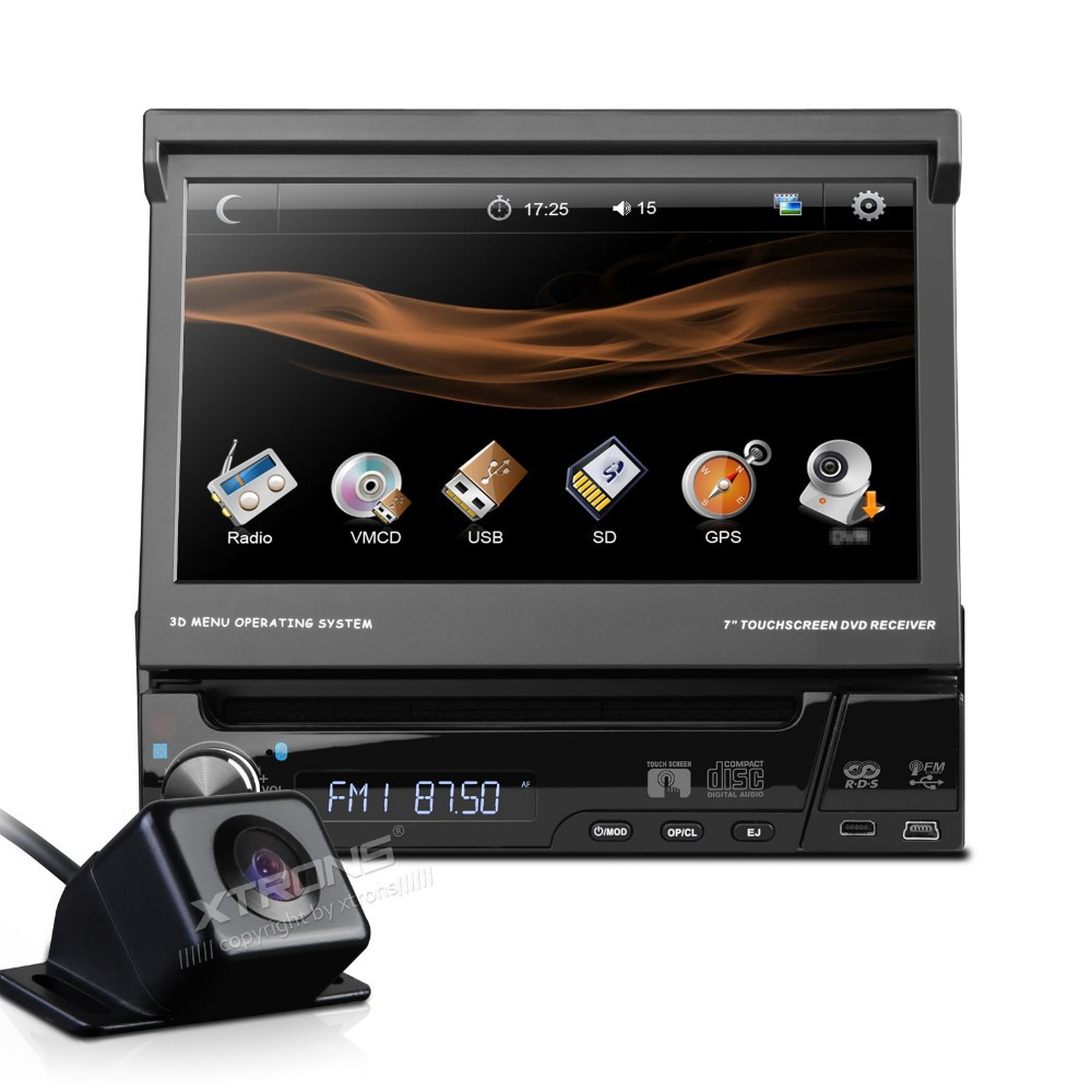 Автомобильный DVD плеер XTRONS 7 HD 1 Din DVD Bluetooth USB SD +