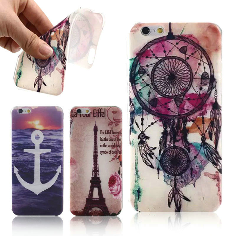 Capa iPhone 6 6S Case 4.7 inch Soft TPU Vintage Dreamcatcher Back Cover Apple Mobile Phone Bag - Best-Elec store