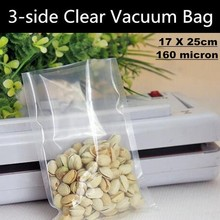 200p!17x25cm Food-grade Clear Vacuum Pouch,PA/PE Storage Bag Heat Seal for Food,Electronic Jewelry Packaging&Display,Anti-odor(China (Mainland))