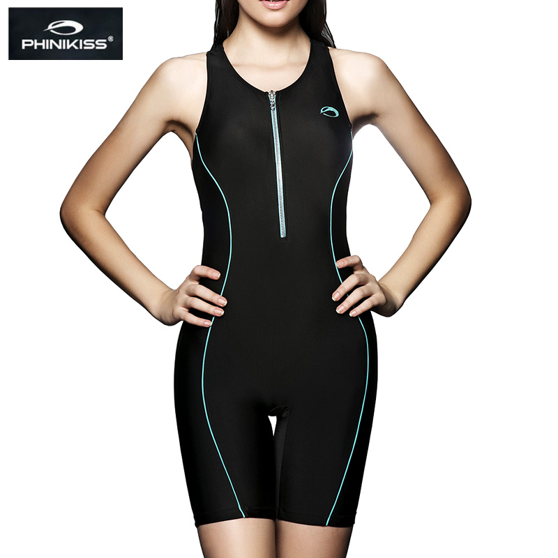 PHINIKISS Professional Women Racing Swimsuit Large Size One Piece Suits Swimming Sport Competition Swimwear 2016 Black Bodysuit(China (Mainland))