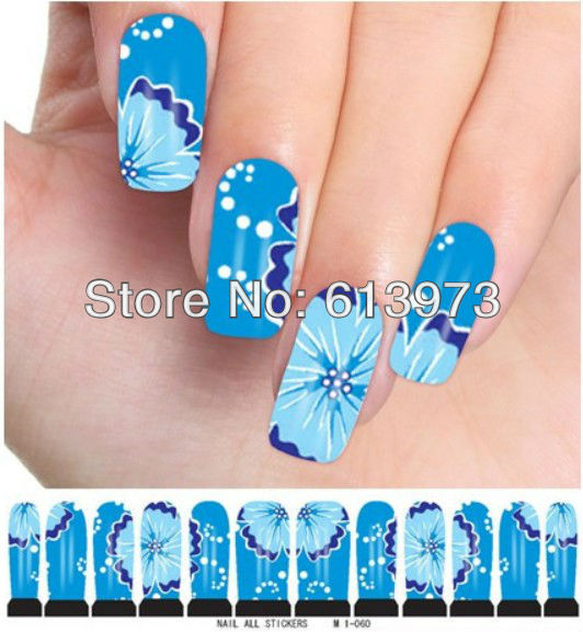 M1-060 Style Water decals Nail Stickers Full Cover tips Fingernail Beauty Desgin - Coner Love store