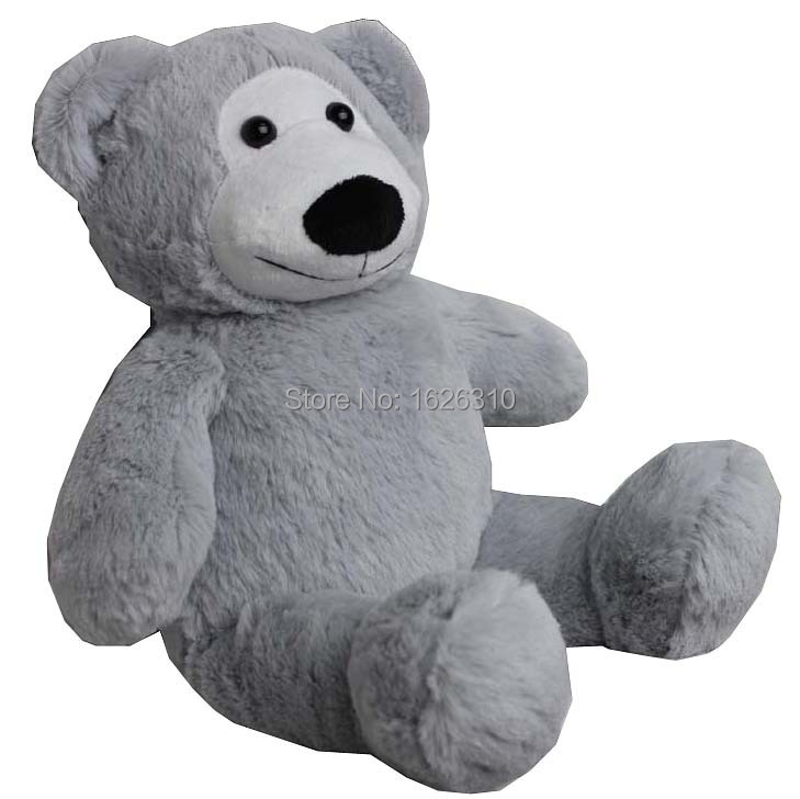 gray big mouth eyes plush stuffed bear huggable bear washable sit stand teddy bear(China (Mainland))