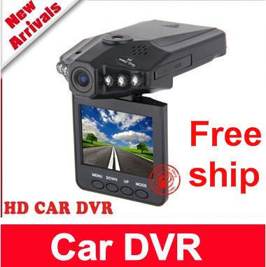 """Free shipping 120 degree angle IR Vehicle in-Car DVR Dash Cam Camera Road Video Recorder Night Vision 270 2.5"""""""