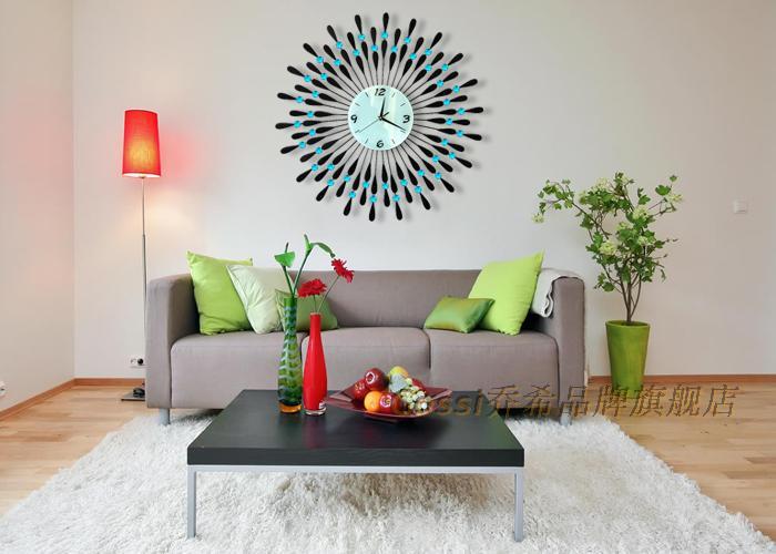 personalized large modern wall clock fashion mute electronic decoration quartz size 60 - Large Decorative Wall Clocks