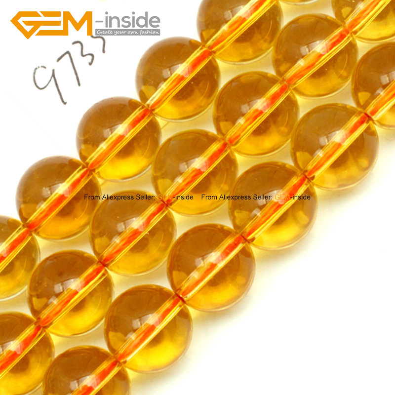 Round Yellow Genuine Citrine Stone Beads For Jewelry Making 12mm 15inches DIY Jewellery FreeShipping Wholesale Gem-inside(China (Mainland))