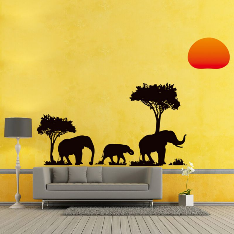 Compare prices on sunset tree online shopping buy low for African sunset wall mural