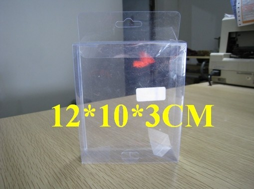 Free shipping 100pcs 12X10X3cm PVC transparent packing box