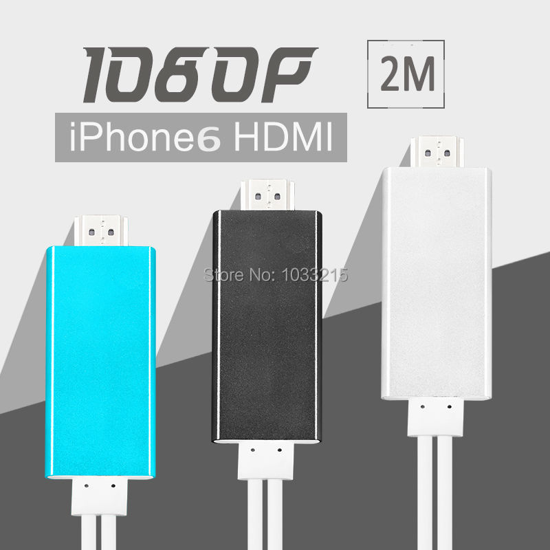 2016 NEW 1080p hdtv CABLE for iphone 6 6S SE hdmi adapter Iphone5s mobile phone to TV video audio output cellphone Wholesale lot(China (Mainland))