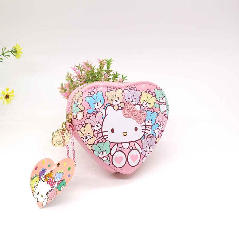 Cute Cartoon Hello Kitty Coin Purse Small Key Wallet for Girls and Kids(China (Mainland))