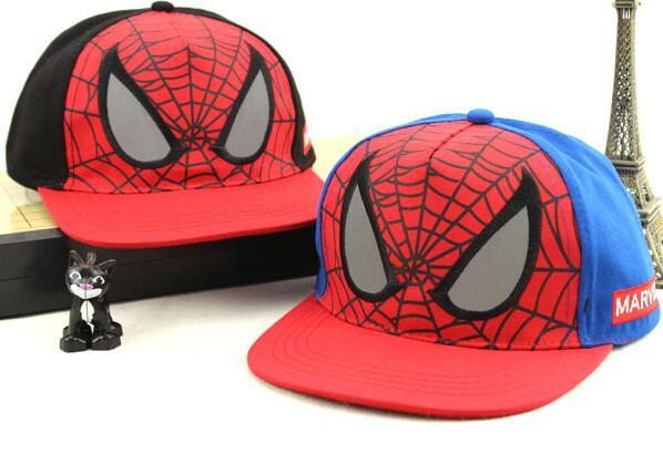 New Kids Baseball Caps Baby Hip-hop Hats Caps Fashion Cartoon spider-man Snapback Cap Boys Girls Sun Hat(China (Mainland))