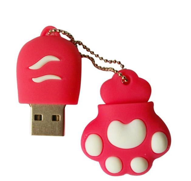 cat paw USB Flash Drive 1gb 2gb 4gb 8gb 16gb 32gb flash usb memory/card/key Pen Drive 100PCS/LOT(China (Mainland))