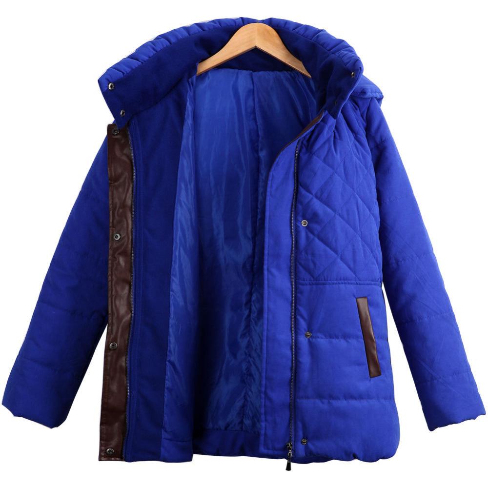 nieuwe 2015 winter jassen jassen vrouwen reële grote dikke katoenen gewatteerde voering doek china goedkope dames naar beneden(China (Mainland))