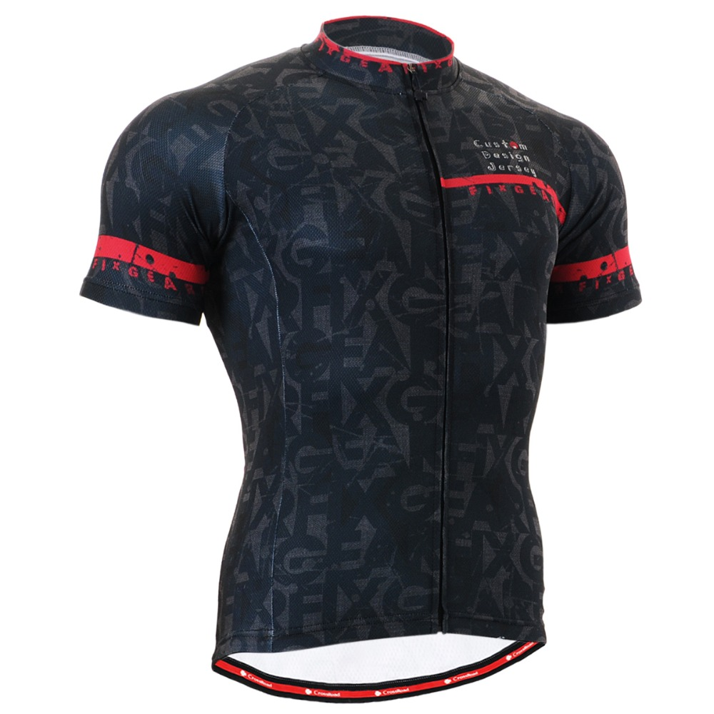 Men's Cycling Jersey Short Sleeve Black Road Bike Shirt ...