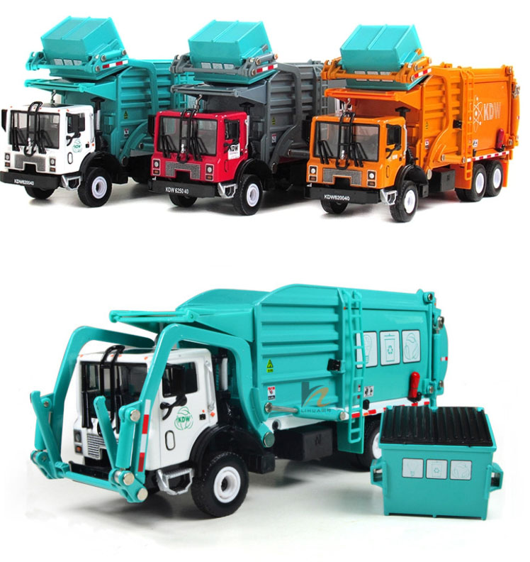 Freeshipping Favorite Model gift,Alloy Material truck, garbage truck,1:24 alloy Engineering Vehicles,Diecast metal cars(China (Mainland))