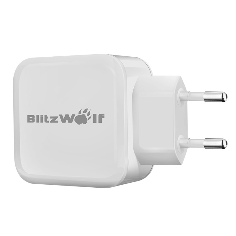 BlitzWolf 4.8A 24W EU Universal Travel Wall <font><b>Smartphone</b></font> Charger USB Dual Adapter With Power3S Tech For iPhone For Samsung