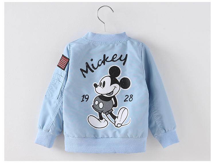 Mickey Jacket New Arrival Clothing For Baby Girls Boys Coat Cartoon Printed Flight jacket Autumn Kids Outerwear Children Clothes
