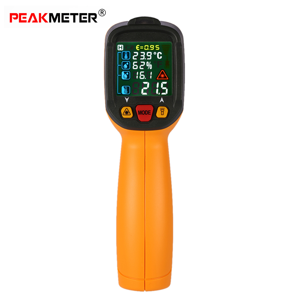 Digital Infrared IR Thermometer hygrometer Dew Point Tester K Type Thermocouple car-detector with UV Light Adjustable Emissivity(China (Mainland))