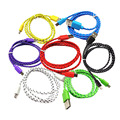 Hot 1m Braided Wire Micro USB Cable Sync Nylon Woven Charger Cords for Samsung S4 S5