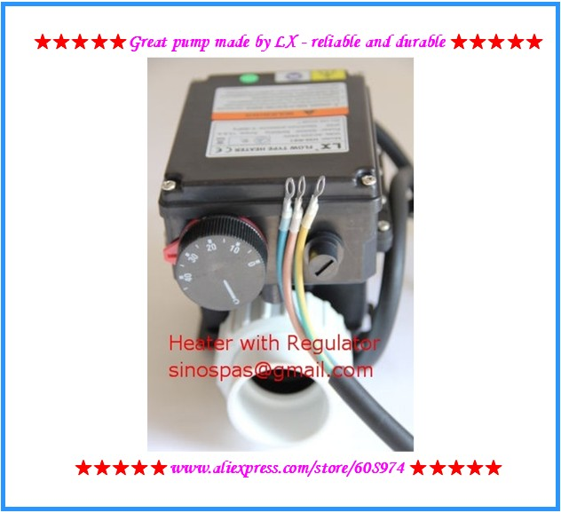 LX H30 Rs1 heater3kw with an adjustable thermostat for bathtub spa tub heater and tub SPA