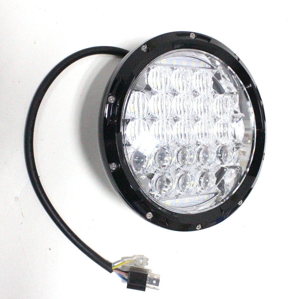 7 inch Round 5D Lens LED Headlight Headlights Headlamp Wrangler CJ TJ JK DRL High Low Beam Driving Car Truck 4x4 ATV Offroad US(China (Mainland))