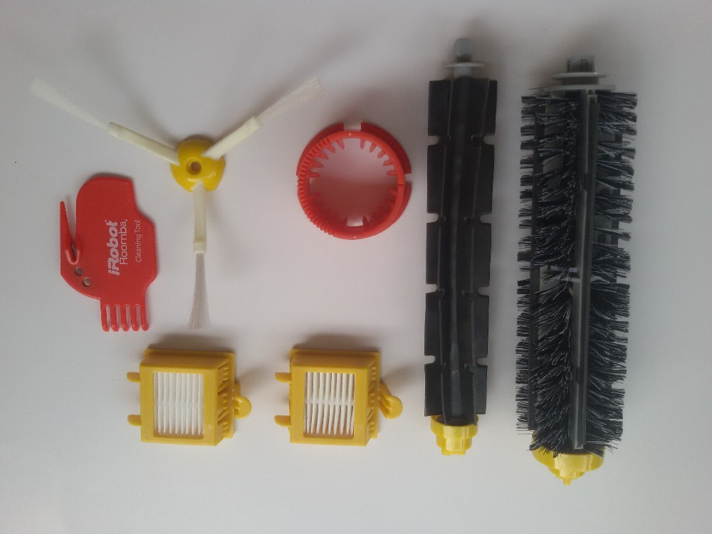HEPA Filter + Brush Cleaner + Bristle and Flexible Beater Brush for iRobot Roomba 700 Series 770 780 790 Bristle Brush Cleaner(China (Mainland))