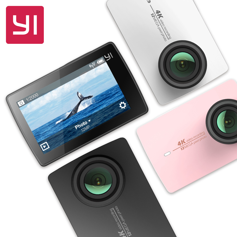 "[International Edition]Xiaomi YI 4K Action Camera 2 Ambarella A9SE Xiaoyi Sports Camera II 2.19"" 155 Degree 12.0MP CMOS EIS LDC(China (Mainland))"