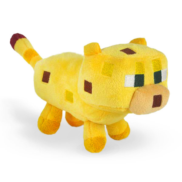 Гаджет  Minecraft Toys Dolls Stuffed Plush Toys Minecraft Ocelot Plush Toys Yellow 24CM Children Brinquedos Christmas Gifts None Игрушки и Хобби